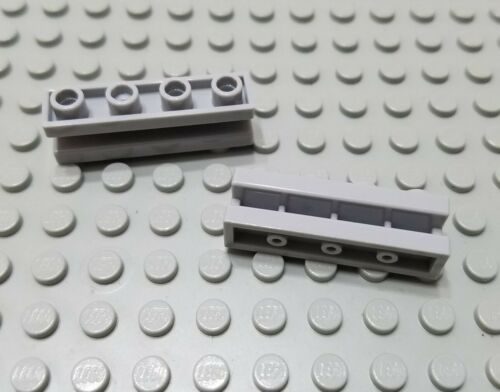 New LEGO Lot of 2 Light Bluish Gray 1x4 Door Rail Groove Brick Parts and Pieces