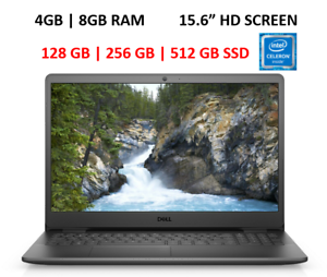 """New Dell Inspiron 15.6"""" Laptop Intel N4020,Up to 16 GB RAM 1 TB SSD, WIN 10 Pro"""