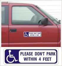 Magnetic Sign HANDICAP 4 ft clearance wheelchair lift mobility disable van HC104
