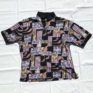 Vintage-DOCKERS-GOLF-All-Over-Print-Golf-Polo-Shirt-Size-XL
