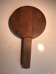 Dansk-Danish-Cutting-Board-Mid-Century-Teak-Round-With-Knife