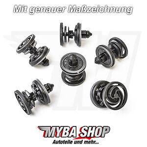 10x-Tuerverkleidung-Befestigungs-Clips-fuer-VW-T5-Touareg-Caddy-Audi-7L6868243