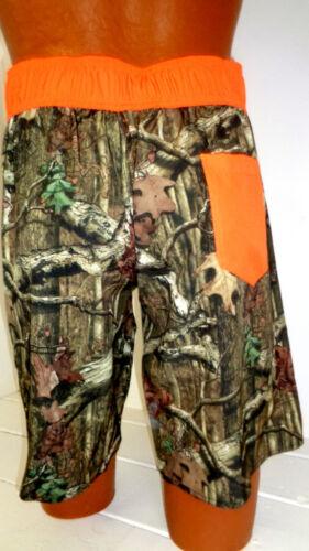 MEN/'S CAMO Tree Orange SWIM TRUNK BOARD SHORTS CAMOUFLAGE SHORT SWIMWEAR