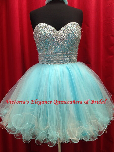 Short tulle homecoming pageant sweet 16 dress
