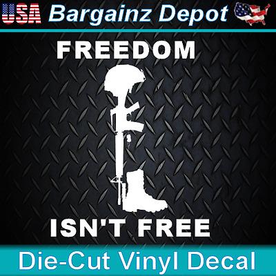 Military Car Laptop Sticker Vinyl Decal Praying Soldier .. FALLEN SOLDIER ..