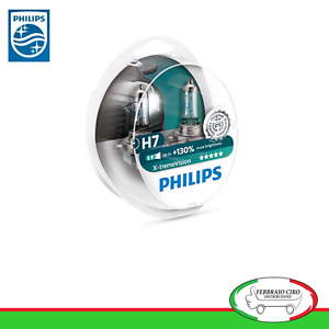 2-LAMPADE-H7-PHILIPS-X-TREME-VISION-55W-TOP-QUALITY-130-3700K-ALOGENE