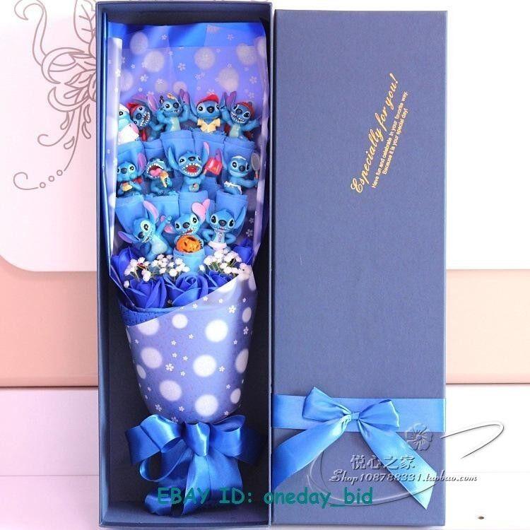 NICE NICE NICE Bunch of 12 Lio Stitch Dolls Toys  flowers  Christmas Creative Gift Box 4d89d6