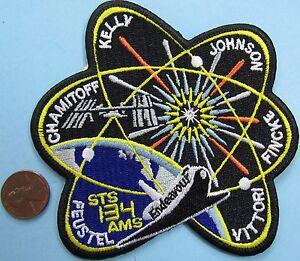 NASA-PATCH-vintage-STS-134-Space-Shuttle-ENDEAVOUR-AMS-Feustel-Kelly-Fincke