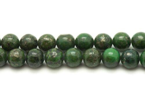 Perles de Pierre Pyrite Verte Boules 6mm   4558550013729 10pc