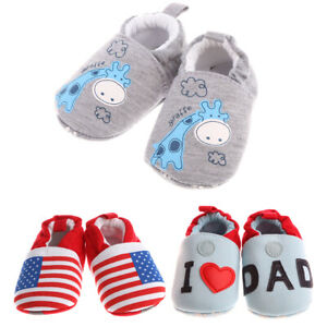 fb91f167414ba Details about (0-12 Months) Crib Crawler Trainers Baby Boys Girls Soft Sole  Slip On Shoes