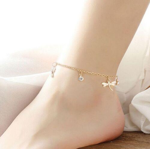 women silver Bohemian Beach Tassel Chain Anklet Barefoot Sandals Foot Jewelry