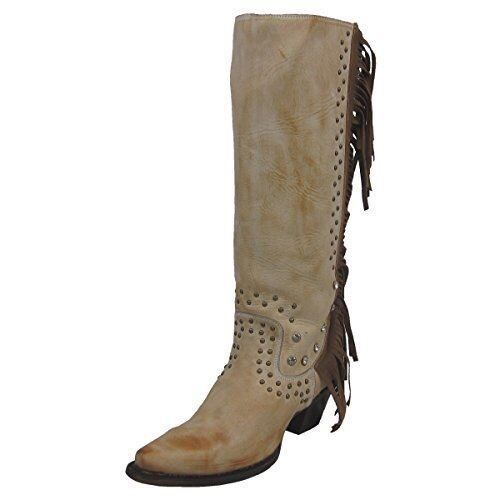 CORRAL Women's Camel Fringe and Crystal Snip Toe Cowgirl Boots R1315