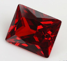 EXQUISITE 11.91CT PIGEON BLOOD RED RUBY 10x14mm EMERALD CUT AAAA+ Loose GEMSTONE