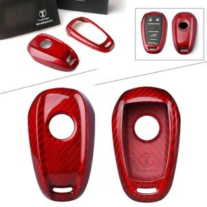 Real Carbon Fiber Remote Key Cover Case For Alfa Romeo Giulia Stelvio