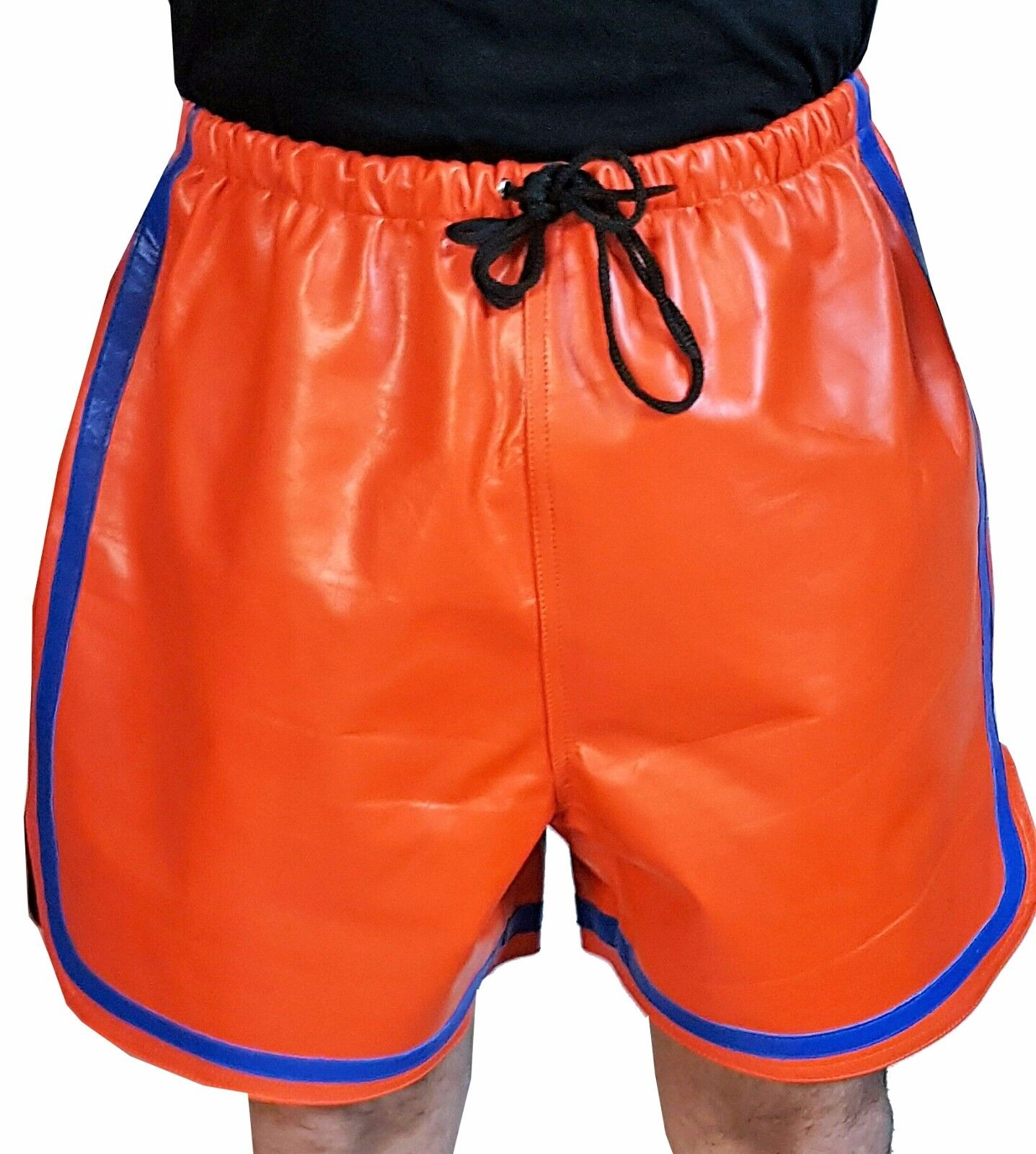 Leder Short mit Gummizug aus Lamm Nappa Größe MLXL2XL3XL