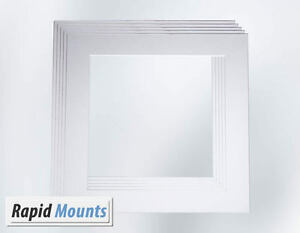 5-Pack-Square-Mounts-for-Picture-Photo-frames-White-Core-board-Various-sizes