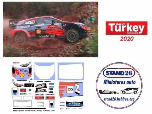 Järveoja rallye de Turquie 2020 1//43e Decals Hyundai i20 WRC Tänak