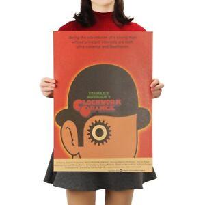 Clockwork-Orange-Movie-Poster-Vintage-Retro-Kraft-Paper-Poster-Free-Shipping