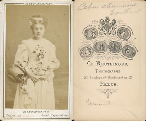Reutlinger-Paris-Celine-Chaumont-Vintage-CDV-albumen-carte-de-visite-Chan