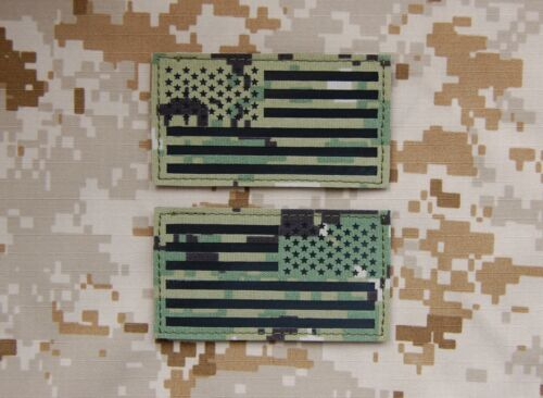 Infrared AOR2 IR US Flag Patch Set US Navy SEAL NSW NWU Type III NSWDG #TEAMS