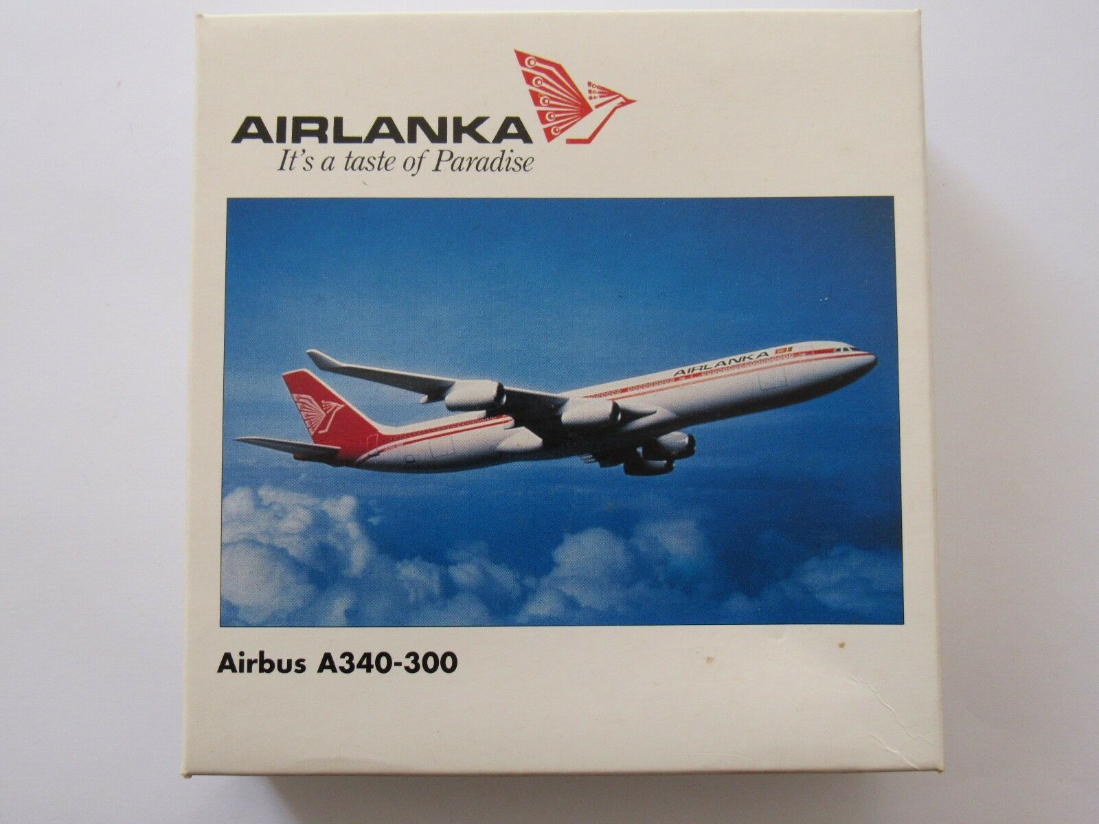 HERPA WINGS AIRLANKA AIRBUS A340-300 WITH STAND 504539