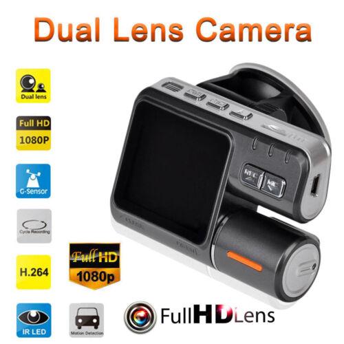1080P HD Car SUV Off-Road DVR Camera Dual Lens Video Tachograph G-sensor Cam