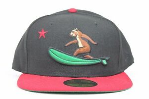 a7f45926fff California Republic Surfing Bear Black Red New Era 59Fifty Fitted ...