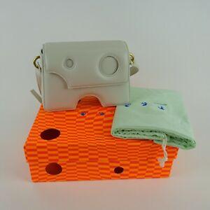 Off-White Cream Burrow-22 Shoulder Bag $1,345 NIB NEW
