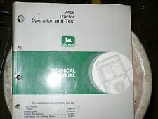 John Deere Technical Manual for 7405 Tractor Operation and Test