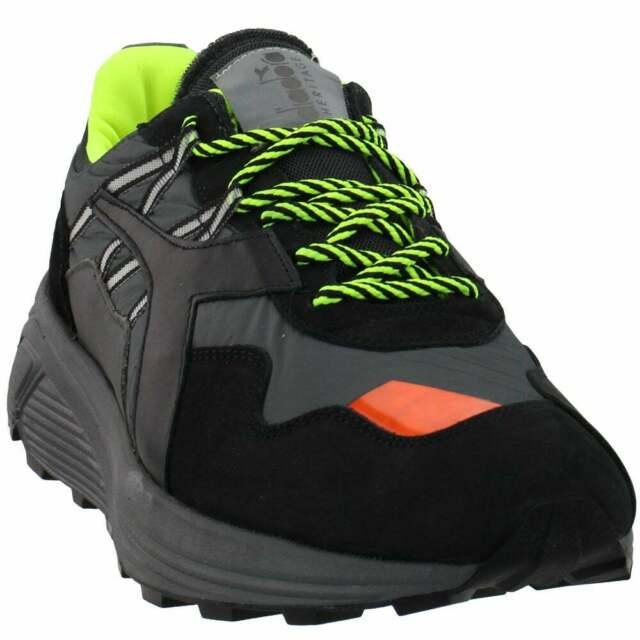 Diadora Rave Nylon Lace Up Sneakers  Casual    - Black - Mens