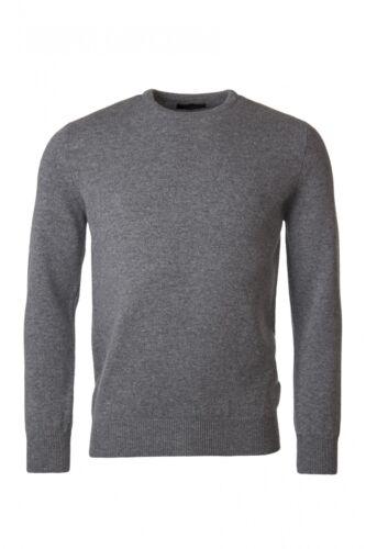 Da Uomo Grande /& British Knitwear 100/% LANA Plain Maglione Girocollo