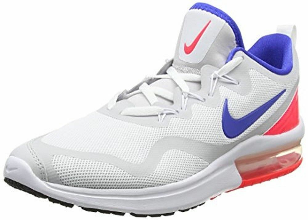 NIKE AIR MAX FURY WHITE LO RUNNING MEN SHOES WHITE FURY ULTRA MARINE AA5739-141 SIZE 10 NEW cc8cf9