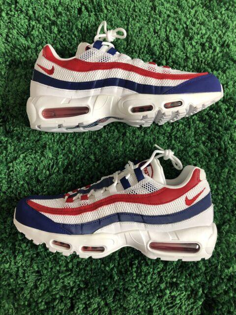 Cj9926 104 Nike Air Max 95 Retro USA Americana White Red Royal Blue 11.5  Mens