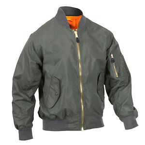 Militare Leggero Bomber Ma Rothco 6325 Stile Mens Flight Verde Giacca 1 qZnfUY