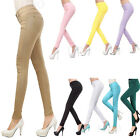 Women Girl Candy Color Stretch Pencil Trousers Pant Slim Fit Skinny Legging Jean