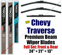 Wipers 3pk Beam Front Rear 2009-2016 Chevrolet Chevy Traverse 19240/210/37131