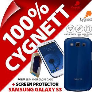 NEUF-CYGNETT-FORM-Bleu-Brillant-etui-Pour-Samsung-i9300-Galaxy-S3-Protecteur-d-039-ecran
