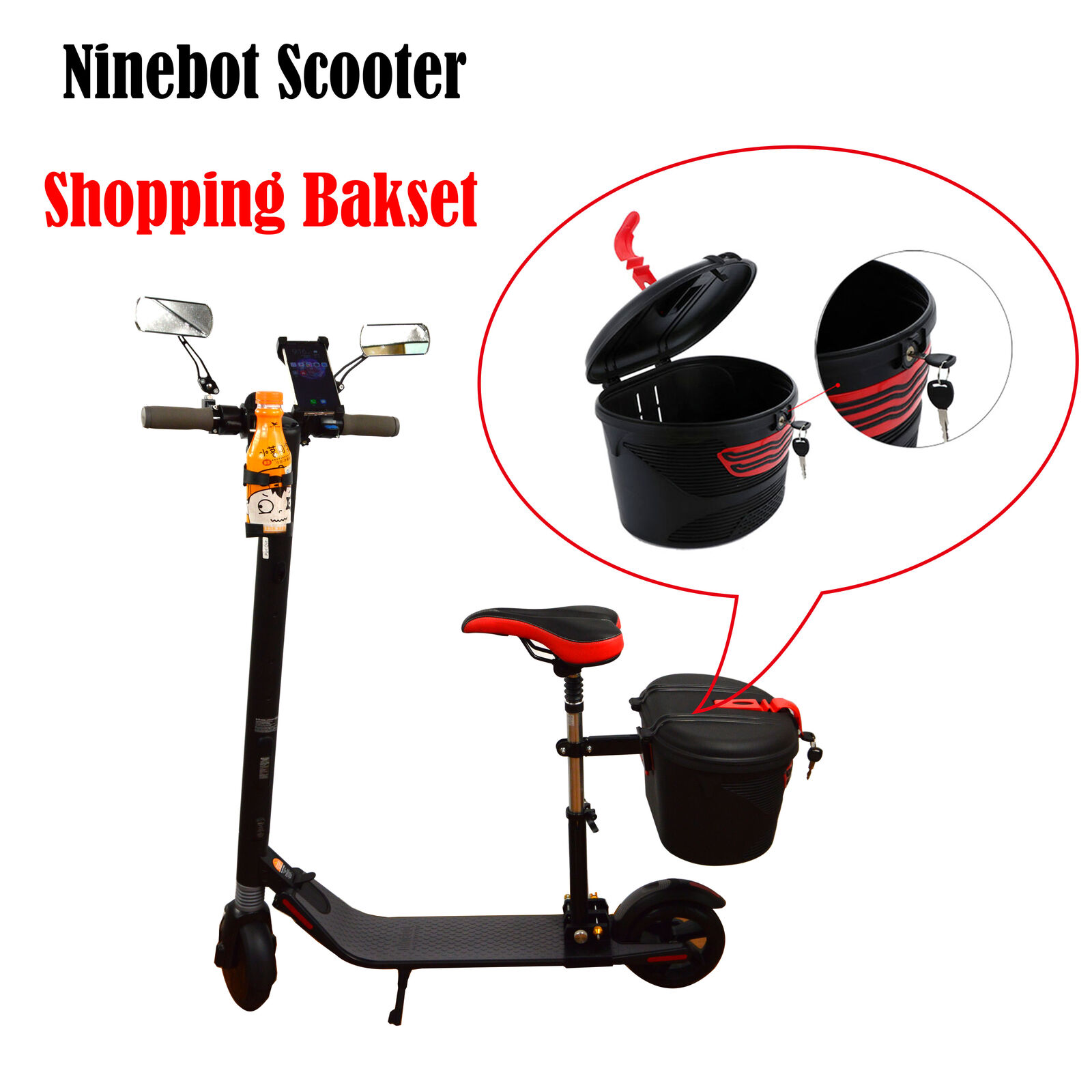 Ninebot Nine Electric Scooter Plastic Basket Rear Insttutti