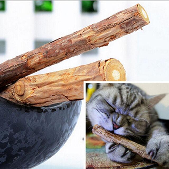 2Bags 10PCS Pet Cat Chew Stick Treat Toy Natural Matatabi Polygama Catnip Molar