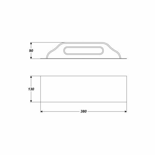 Glättekelle 130 x 380 mm Edelstahl rostfrei Holzgriff Reibebrett Mauern