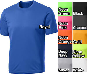 MENS Moisture Wicking T-Shirt Sport-Tek Gym Exercise Work Out S-XL 2XL 3XL 4XL
