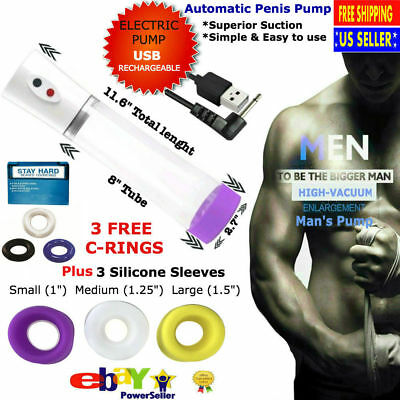 RingQ Male Device Enlarger System Stronger Growth of Up to 30/% Length Premium Black V2.0