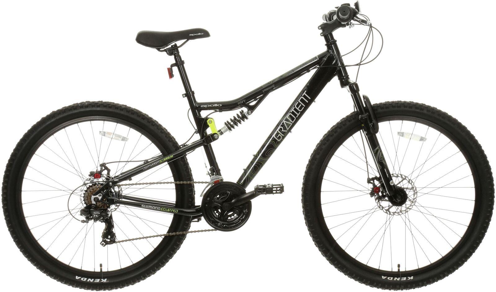 Apollo Gradient Mens Mountain Bike MTB Bicycle 21 Gear Alloy Frame Disc Brake