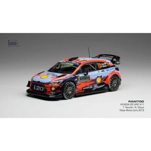 Hyundai i20 WRC 11 WRC Rallye Aufbau Carlo 2019 Neuville Ixo 1:43