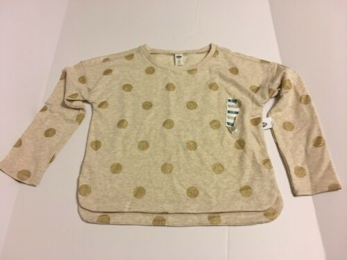 Girls Shirt Size Medium 8 Gold Dots