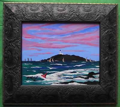 Sailing off Ross Island Kirkcudbright  : Original Framed Painting David R Howard