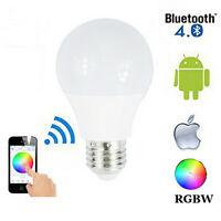 E27 RGB 4.5W LED Bulb Light Wireless Bluetooth Control Home Bar Lamp Decor