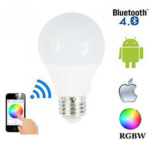 NEW-E27-RGB-4-5W-LED-BULB-LIGHT-WIRELESS-BLUETOOTH-CONTROL-HOME-BAR-LAMP-DECOR