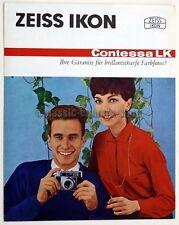 ZEISS IKON Prospekt CONTESSA LK Kamera Broschüre (X2410