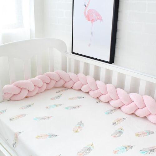 Baby Kids Nestchen Kopfschutz Knotenkissen Bettschlange Farbe Babynestchen `